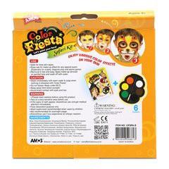Màu vẽ mặt nạ dạng kem Amos Flesta - Hộp 6 màu (Hàn Quốc)