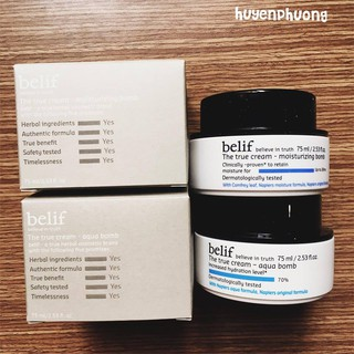 Kem dưỡng da Belif true cream Aqua/Moisturizing bomb 75ml
