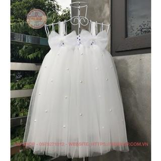 Váy công chúa ❤️FREESHIP❤️ Váy công chúa cho bé trắng 2 nơ đính đá