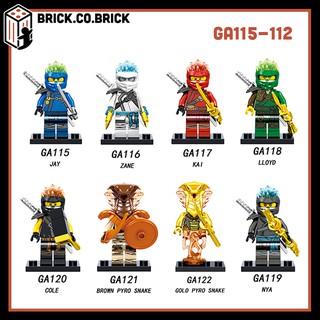 (CÓ SẴN) GA115 -> 122 Đồ chơi lắp ráp minifigures và lego nhân vật ninja go bản mới.