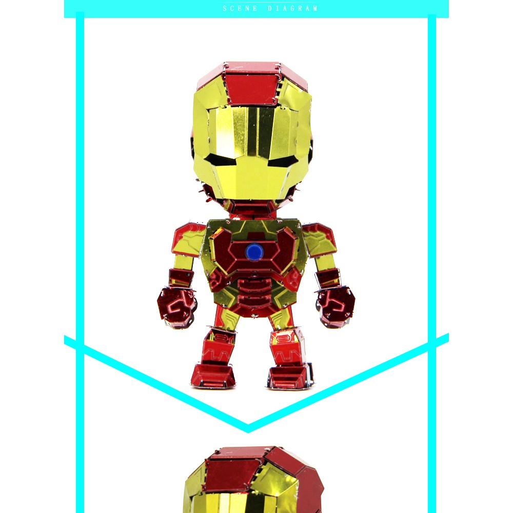 Mô Hình Nhân Vật Iron Man 3d Độc Đáo