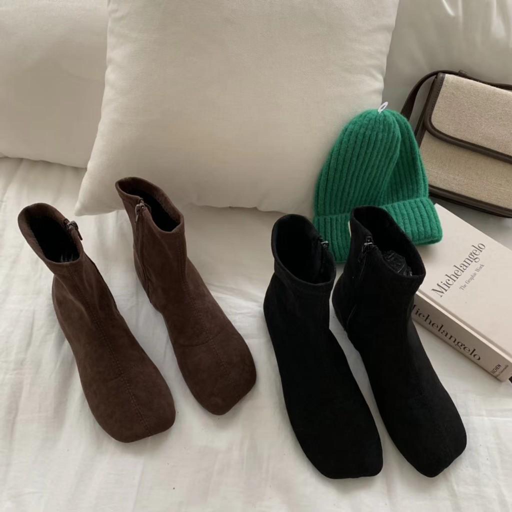 giày boot cao gót phong cách hàn quốc trẻ trung dành cho nữ