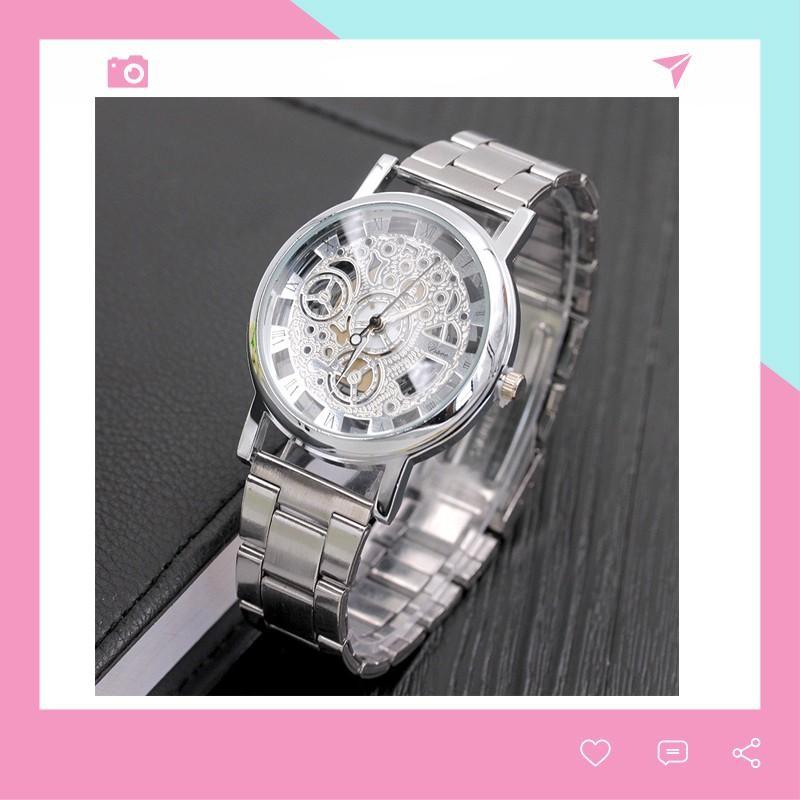 Đồng hồ nam Modiya đeo tay cao cấp dây kim loại DH102