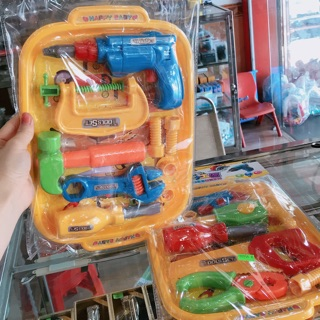 Bộ dụng cụ sửa chữa đồ chơi cho bé nhựa cao cấp (2 mẫu)