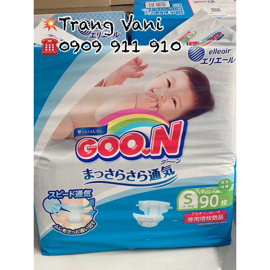[Cộng Miếng] Tã Bỉm GOON Nội Địa Nhật dán quần NB90/S84/M64