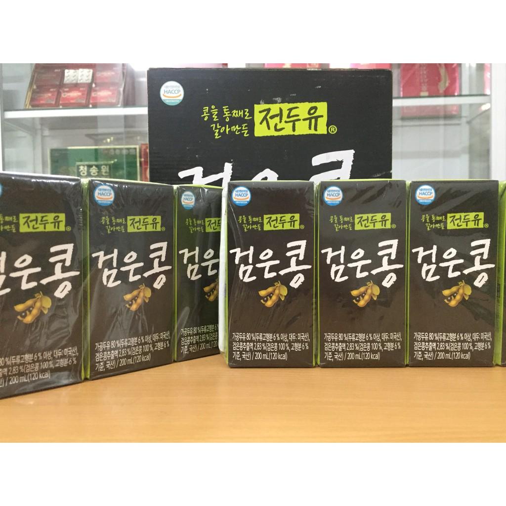 [Hanmi] Sữa Hạt Hàn Quốc Đậu Đen 200ml (4 hộp, 8 hộp, xách 16 hộp) - Sữa Hạt Hàn Quốc Hanmi