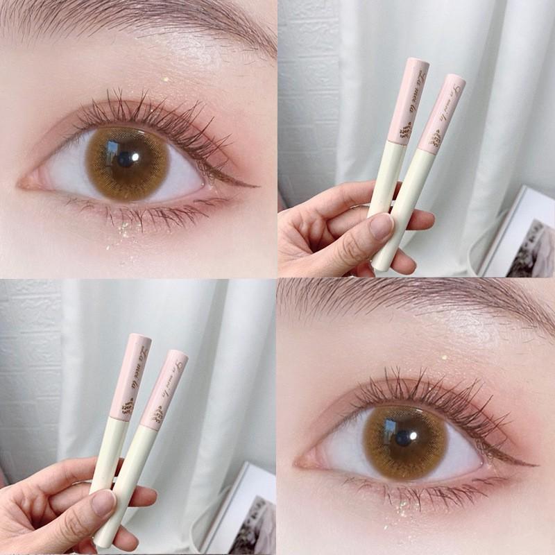 Mascara Siêu Mảnh Tơi Mi Lameila Skinny Microcara Vỏ Hồng 2 màu đen nâu | Thế Giới Skin Care