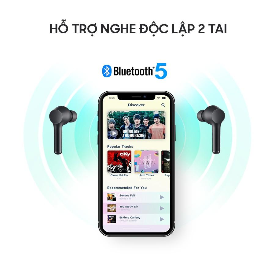 Tai Nghe True Wireless AUKEY EP-K01 Lite Bass Tăng Cường, Bluetooth 5.0, Nghe Đến 30H, IPX5 - Chính Hãng BH 18 Tháng