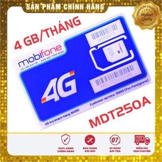 Sim 4G MobiFone Trọn Gói 1 Năm Không Nạp Tiền MDT250A-135A