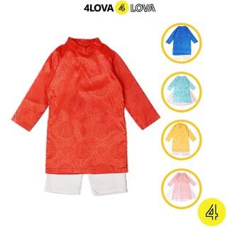 Áo dài 4LOVA chất lụa cao cấp họa tiết độc đáo cho bé từ 8-30 kg