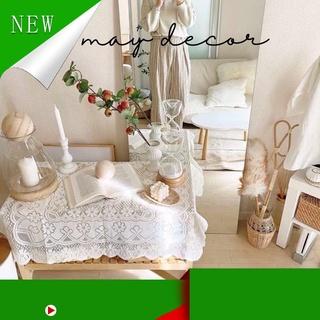 Hàng Hot . Khăn thêu ren trắng trải bàn, picnic phong cách retro -may.decor- thumbnail