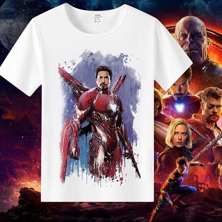 Áo thun nam ngắn tay in hình biệt đội siêu anh hùng Marvel