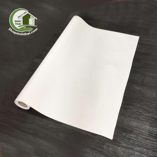 Yêu ThíchGiấy dán tường màu trắng nhám - [ 50cm x khổ 1,2m] - có sẵn keo