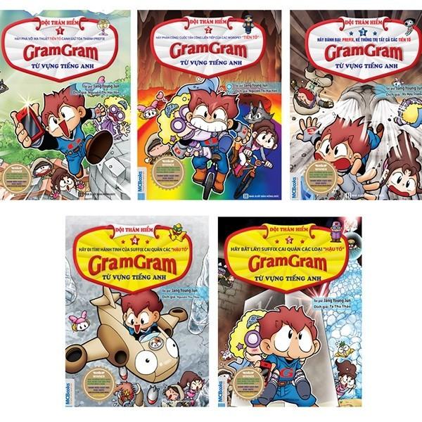 Truyện Học Tiếng Anh Gram Gram - Combo 5 Cuốn Đội Thám Hiểm Từ Vựng Tiếng Anh (Combo/Lẻ)