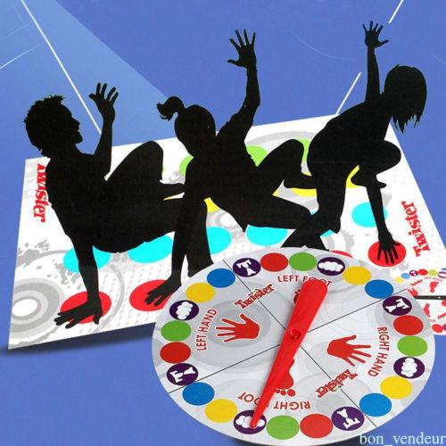 JQAIQ Classic Twister Funny Family Moves Board Game Children Friend Body Games