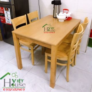Bộ bàn ăn 4 ghế mặt gỗ giá rẻ (Freeship nt HCM)