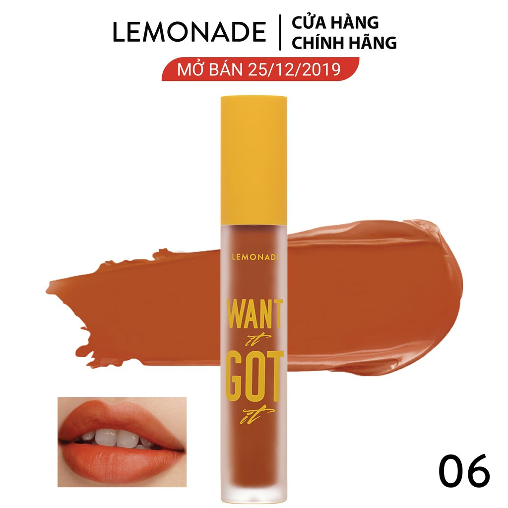Son Kem Lì Nhẹ Môi Lemonade Want It Got It Lipcream 5g