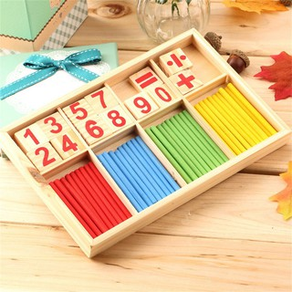 Math Manipulatives Wooden Counting Sticks Kids Preschool Educational Toys