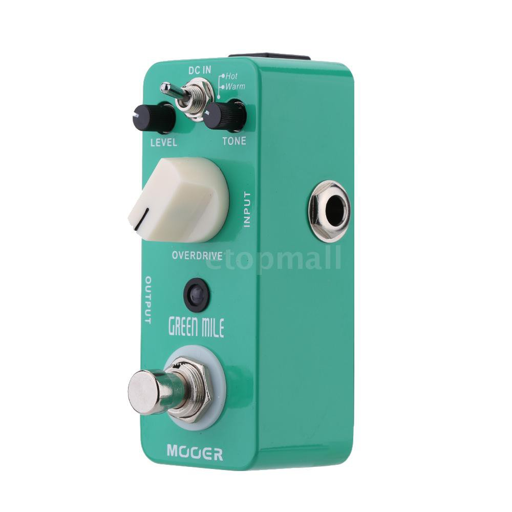 🔥🔥 Mooer Green Mile Micro Mini Overdrive Electric Guitar Effect Pedal True Byp