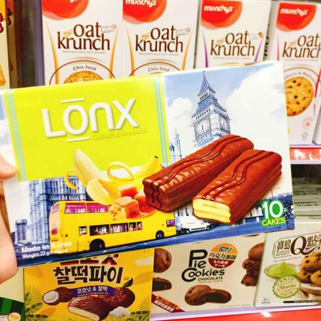 Bánh Lonx sôcôla vị chuối