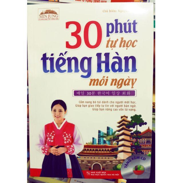 Sách 30 phút tự học tiếng Hàn mỗi ngày