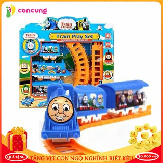 Đồ chơi trẻ em, Bộ đồ chơi đoàn tàu chay pin dành cho bé, trò chơi trẻ em cao cấp thumbnail