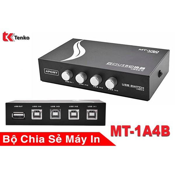 Bộ chia sẻ máy in 1 RA 2/ 1 RA 4 cổng USB MT-1A4B-CF-VIKI 4 máy tính chung 1 máy in