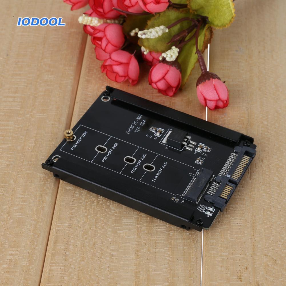 【Ready Stock】Portable Black Metal Cased CY B+M Socket 2 M.2 NGFF (SATA) SSD to 2.5 SATA Adapter