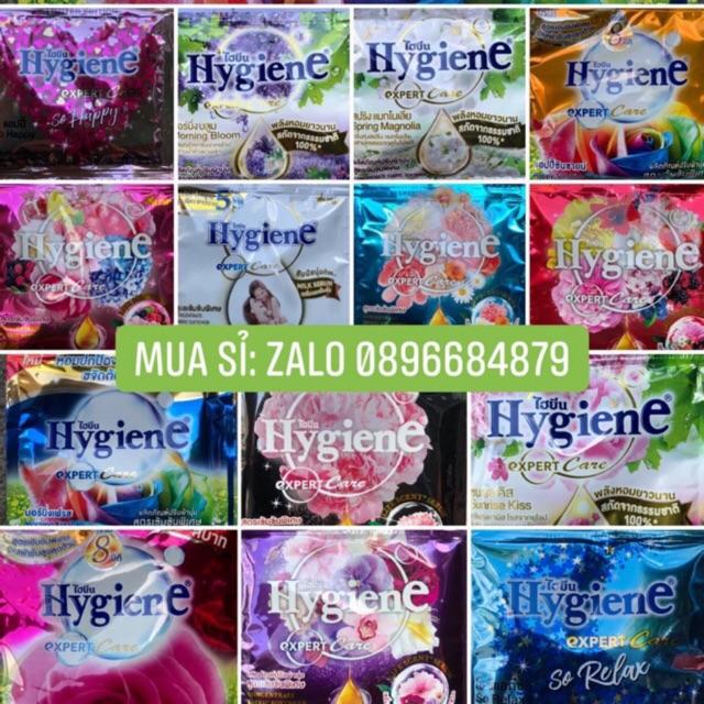 Combo 12 gói nước xả mềm vải đậm đặc Thái Lan (tím/hồng/xanh/vàng/đen/đỏ)