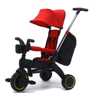 PHIÊN BẢN 2021 Xe đẩy 3 bánh cho bé 3in1 kiêm xe chòi chân, ngả lưng 3 cấp độ siêu gấp gọn, dành cho bé từ 1 - 5 tuổi thumbnail