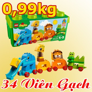 LEGO DUPLO 10863 Đồ Chơi Xếp Hình Động Vật Đầu Tiên Của Bé (34 Chi Tiết)