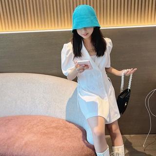 Đầm Ngắn Tay Thời Trang Hàn Quốc Dành Cho Bé Gái 2021