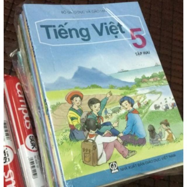 Sách - Trọn bộ sách giáo lớp 5 - 2018 ( gồm 19 cuốn và 2 tập bọc sách giáo khoa)