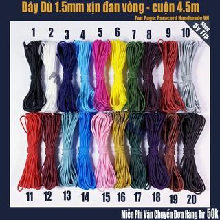 dây dù 1mm - 1,5mm đan vòng tay - cuộn 4,5 mét