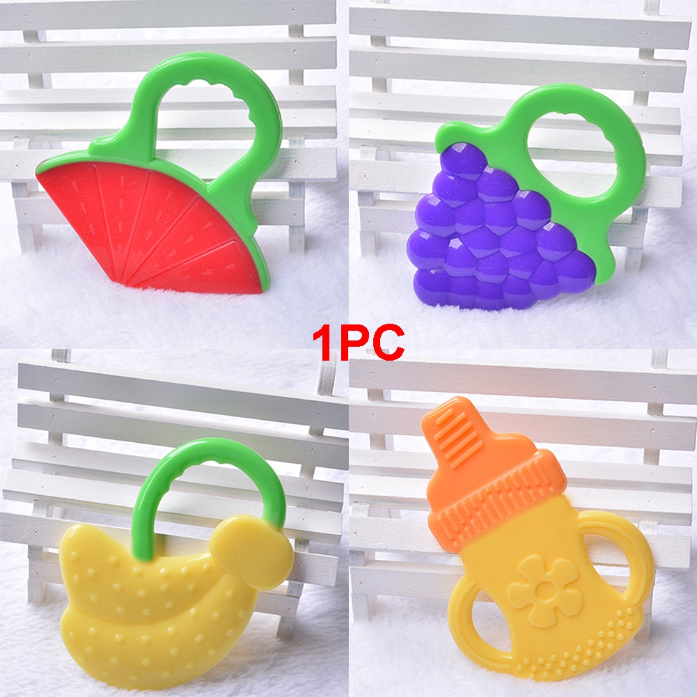 Baby Kids Cute Teething Ring Safety Rattles Biting Teether