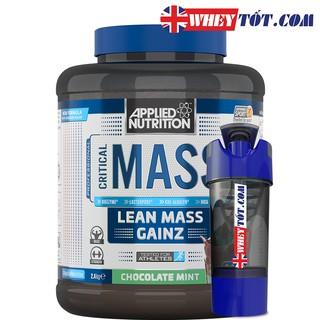 Mass gainer muscle Critical Mass Applied Nutrition 2,4Kg & Bình Lắc tăng cân tăng cơ tập gym chứa whey isolate