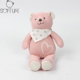 gấu len hồng cao cấp siêu mềm mịn cho bé từ sơ sinh Soft life
