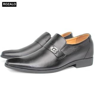 [Mã MABRMALL10 hoàn 10% đơn 150K tối đa 30K xu] Giày tăng chiều cao nam 6cm da bò Rozalo R6626 thumbnail