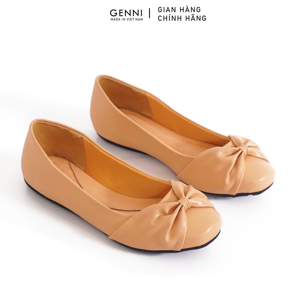 Giày bệt nơ cách điệu GE463 - Genni