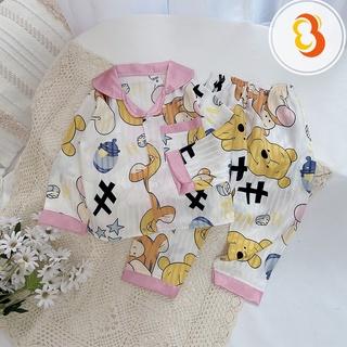Bộ Ngủ Pijama Dài Tay Cho Bé Chất Lụa Gấm Size 12-24kg [BN19] – Babi mama