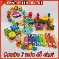 Combo 7 món đồ chơi gỗ cho bé phát triển trí tuệ