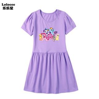 Thời trang mới cho bé gái Váy của tôi Little Pony Dress Trẻ em bằng bông mềm Quần áo kỳ lân mùa hè