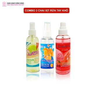 Combo 3 chai xịt rửa tay hương Cherry, Chanh mát và Không mùi Làm Sạch Vượt Trội, X3 Dưỡng Ẩm Không Gây Khô Da A thumbnail