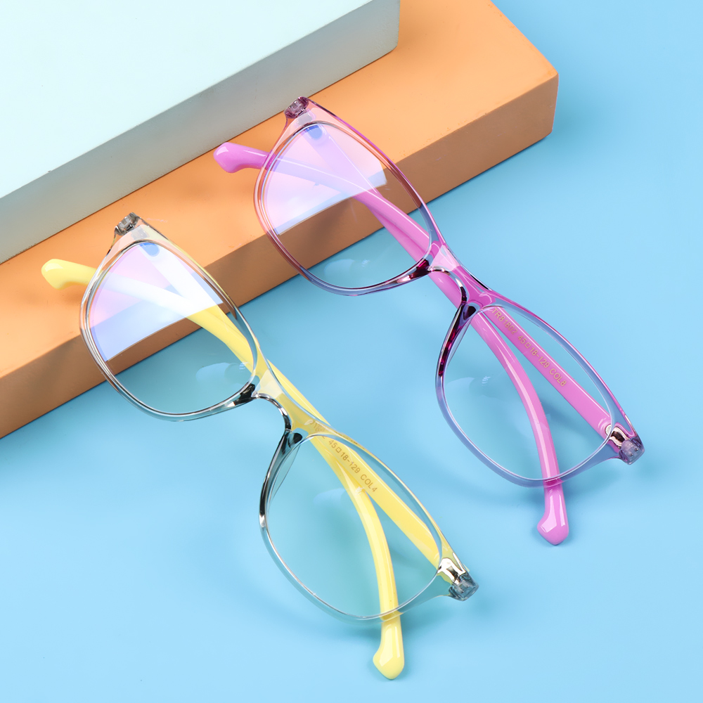 🍒ME🍒 Children Boys Girls Comfortable Eyeglasses TR90 Ultra Light Frame Kids Glasses Portable Online Classes Fashion Computer Eye Protection Anti-blue...