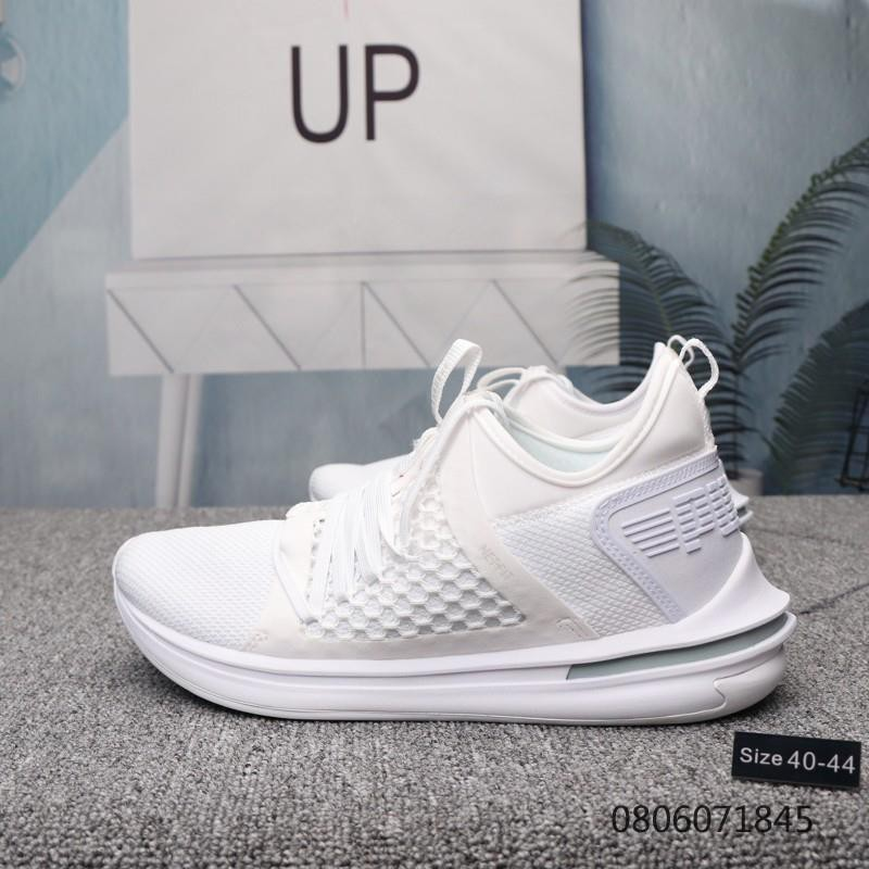best service 3cc6e aac43 Puma IGNITE Limitless SR NETFIT thick bottom casual Giày chạy bộ all white