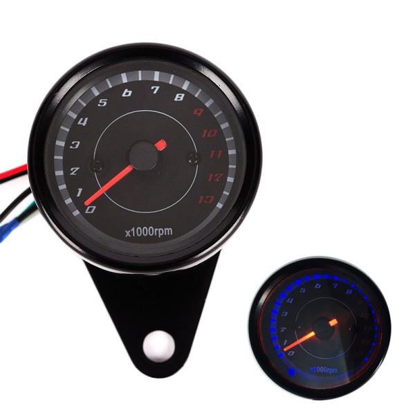 Máy đo tốc độ DC 12V hiển thị đèn LED cho xe máy