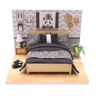 Mô Hình Phòng Ngủ Handmade Bằng Gỗ Tí Hon - Thế Giới Tí Hon - Phòng Ngủ Panda - PR01