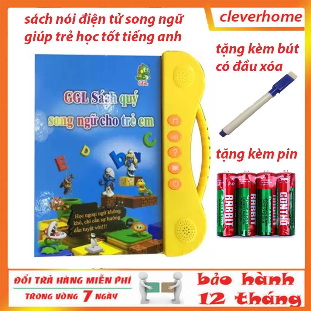 [CÓ 2 LỰA CHỌN] Sách Nói Điện Tử Song Ngữ Anh- Việt Giúp Trẻ Học Tốt Tiếng Anh có kèm mẫu mới nhất