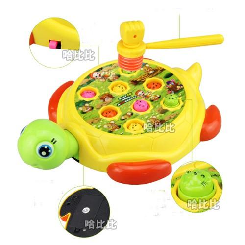 Bộ đồ chơi đập chuột hình chú rùa loại to