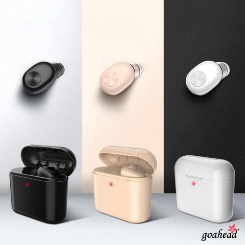 Tai nghe nhét tai không dây kết nối Bluetooth cho Android iPhone X 7 Plus 8